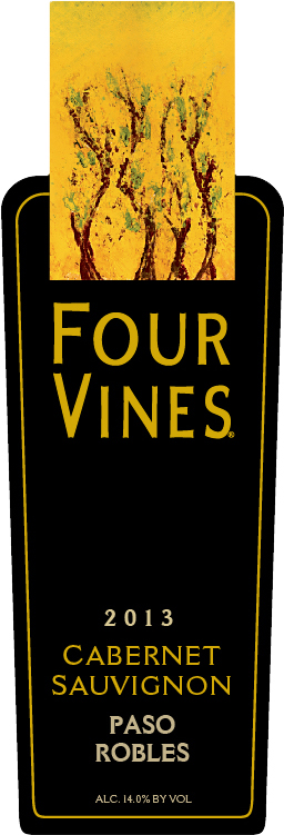 Four Vines Paso Robles Cabernet Sauvignon 2013 (Label)